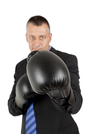 An image of a business man boxing Stock Photo - 9874864