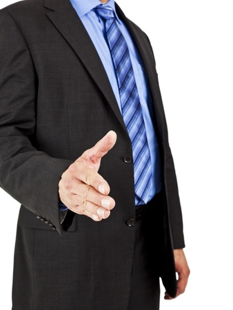 An image of a business man greeting photo