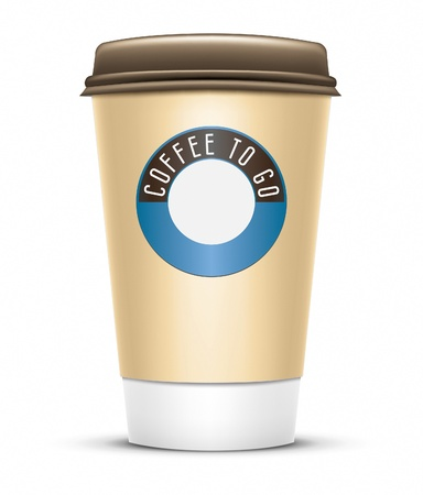 paper cup: An image of a nice coffee to go Stock Photo