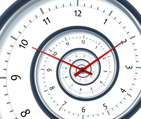 Une image d'une horloge spirale agréable moment Banque d'images