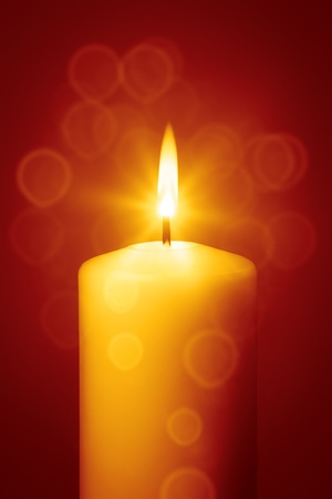 An image of a nice red christmas candle photo