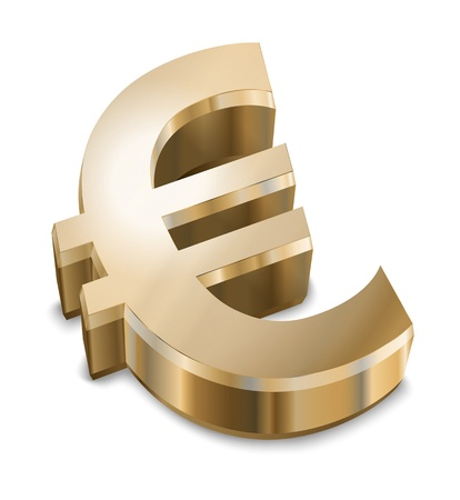 An image of a golden Euro sign photo