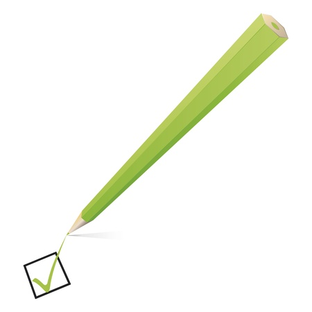 An image of a nice green pencil checking photo
