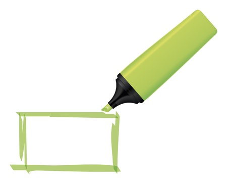 text marker: An image of a green neon text marker