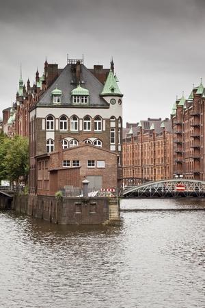 hamburg: An image of the nice Wasserschloss in Hamburg Germany Editorial