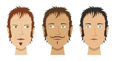 latin american boys: An image of three different male faces