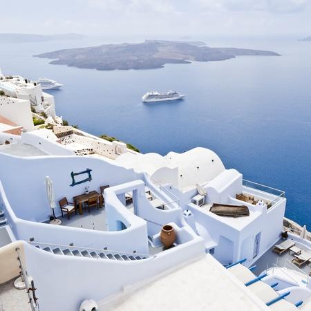 aegean sea: An image of a nice Santorini view Editorial