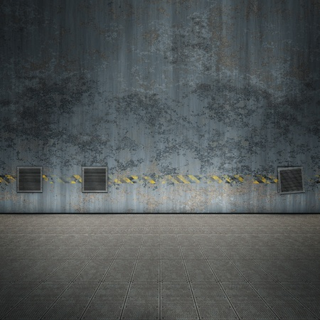 An image of a nice old steel room for your content