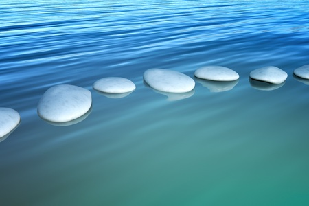 An image of some step stones in the ocean Stock Photo - 10178494
