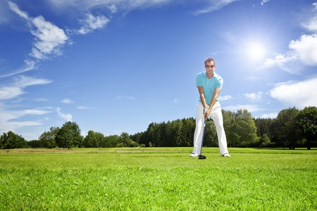 An image of a young male golf player Stock Photo - 10299952