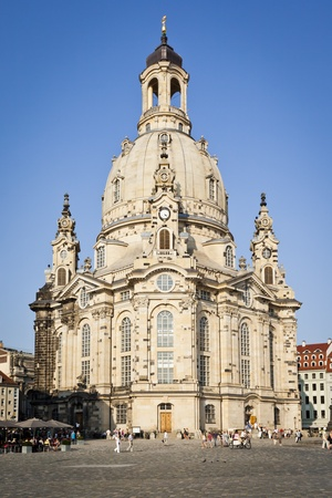 our: An image of the famous Frauenkirche in Dresden Germany