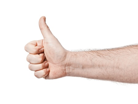 forefinger: An image of a male thumb up