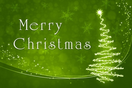 An image of a nice green merry christmas background Stock Photo