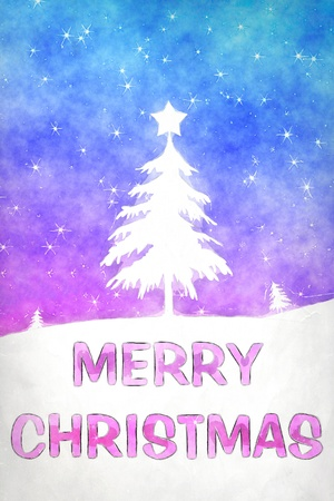 merry mood: An image of a nice blue pink christmas background