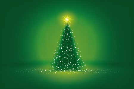 snow tree: An image of a nice green christmas background