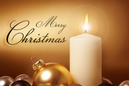 velas de navidad: Una imagen de una tarjeta de Navidad oro Niza