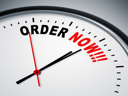 order now: An image of a nice clock with order now