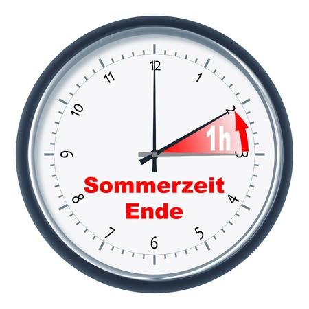 time change: An image of a nice clock Sommerzeit endet