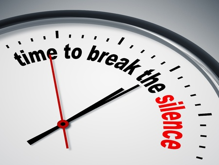 break up: An image of a nice clock with time to break the silence