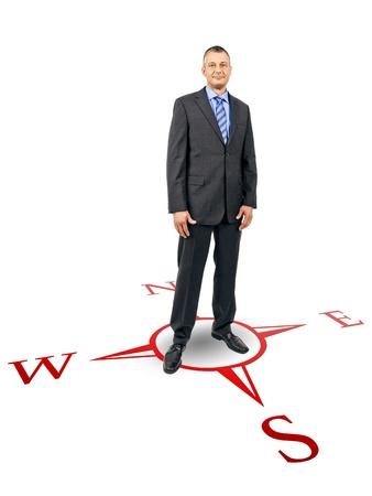 Ein Bild von einer schönen Geschäftsmann Standard-Bild - 10677474