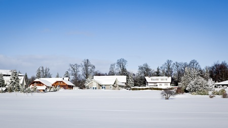 An image of a nice winter scenery in the black forest area photo