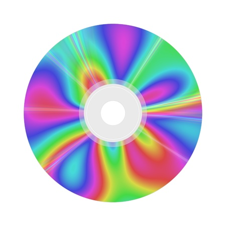 optical disk: An image of a nice colors compact disc