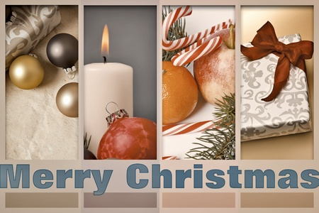 An image of a nice merry christmas postcard photo