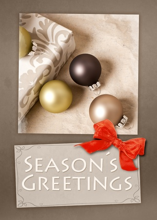 An image of a nice Seasons Greetings postcard photo