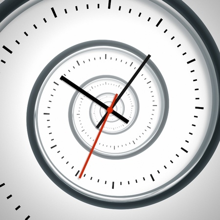 passing: An image of a nice time spiral clock