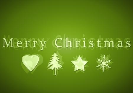 An image of a nice merry christmas postcard Stock Photo - 10851256