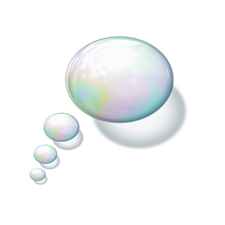 colorful water surface: An image of a nice soap bubble background Stock Photo