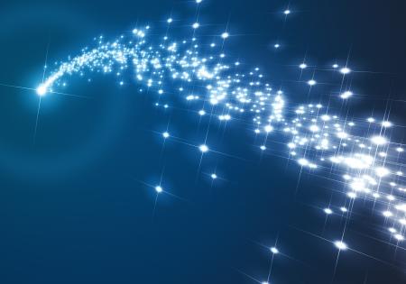 etoiles filante: Une image d'un joli fond bleu �toile de No�l Banque d'images