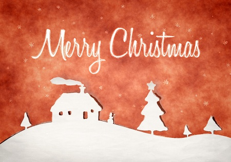 An image of a nice grunge red christmas background photo