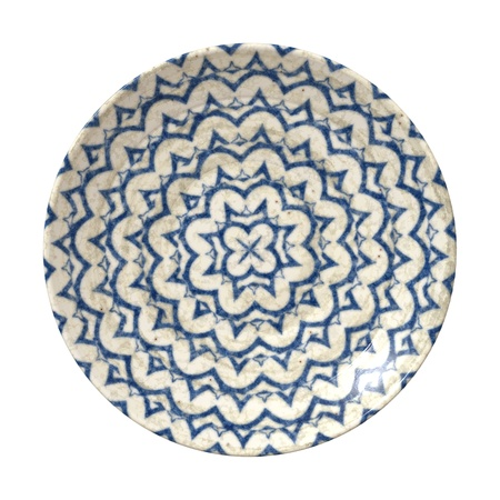 antique dishes: An image of a nice blue pottery plate