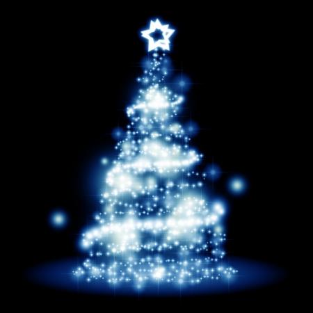 navidad elegante: Una imagen de un �rbol de Navidad agradable luces de fondo