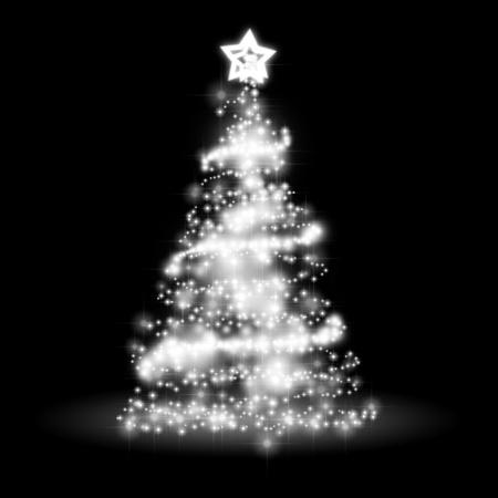 navidad elegante: Una imagen de un �rbol de navidad luces de fondo agradable Foto de archivo