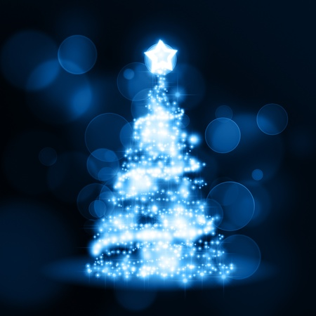 An image of a nice blue christmas background photo