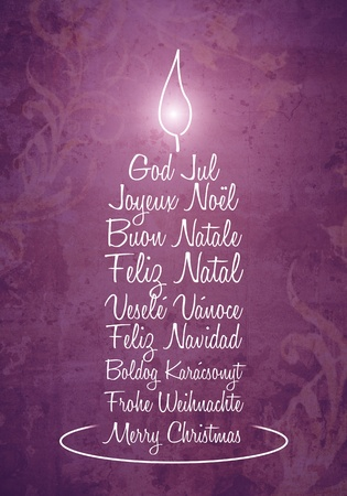 An image of a nice purple christmas greeting candle photo