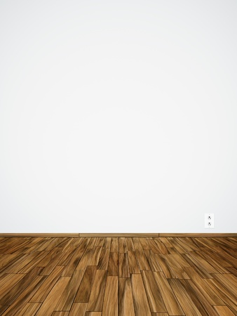 An image of an empty room with a socket Standard-Bild