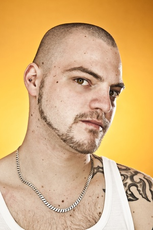 An image of a handsome man with tattoos Stock Photo - 11243157