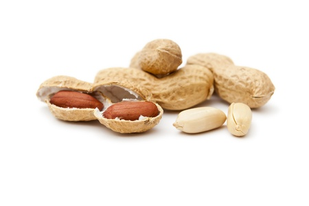 An image of some nice peanuts on white background