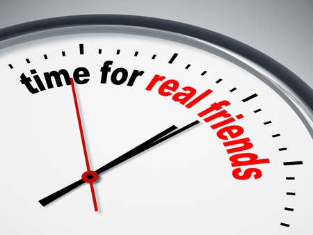 An image of a nice clock with time for real friends Stock Photo - 11365284