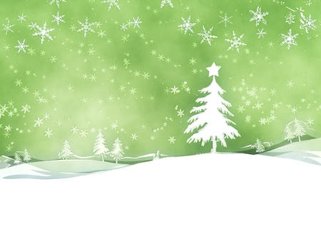 An image of a nice green christmas background photo