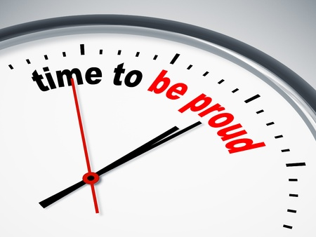 An image of a nice clock with time to be proud Standard-Bild