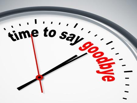 Obraz ładne zegar z czasu, aby pożegnać