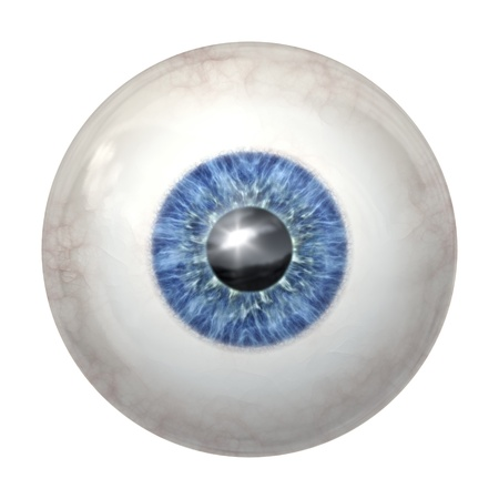 eyes open: An image of a blue eye ball