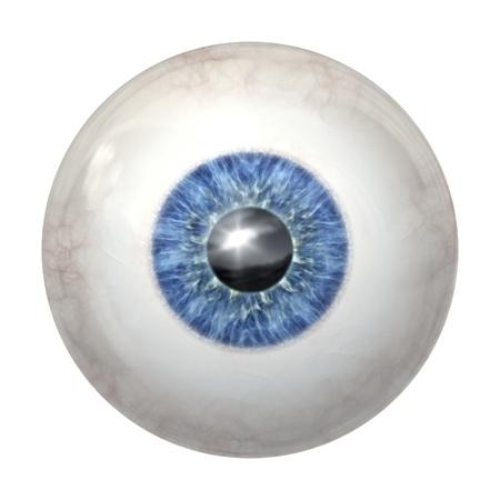 globo ocular: Una imagen de una pelota de ojos azules Foto de archivo