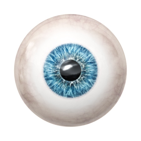 spooky eyes: An image of a nice blue eye ball