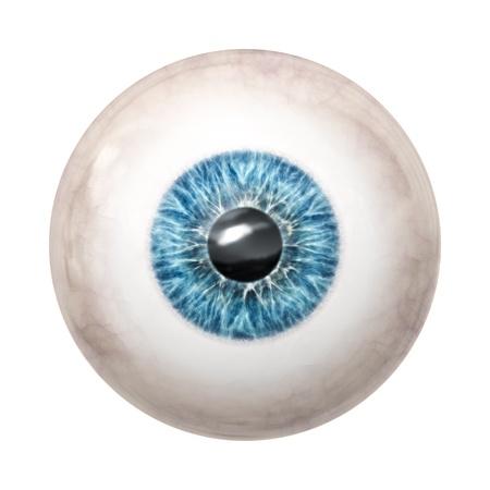 globo ocular: Una imagen de un globo ocular azul agradable Foto de archivo