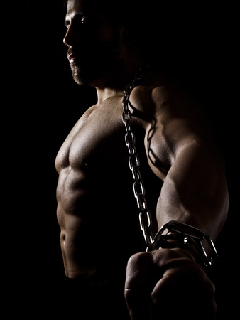 bodybuilder: An image of a handsome young muscular sports man Stock Photo